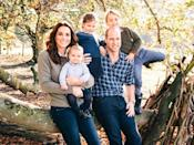 <p>Last year's card from the Cambridges shows a more casual side of the family, and was taken at their home at Anmer Hall.</p>