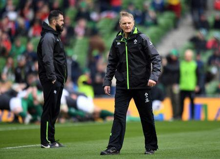 Rugby Union - Six Nations Championship - Ireland vs Wales - Aviva Stadium, Dublin, Republic of Ireland - February 24, 2018 Ireland head coach Joe Schmidt before the match REUTERS/Clodagh Kilcoyne