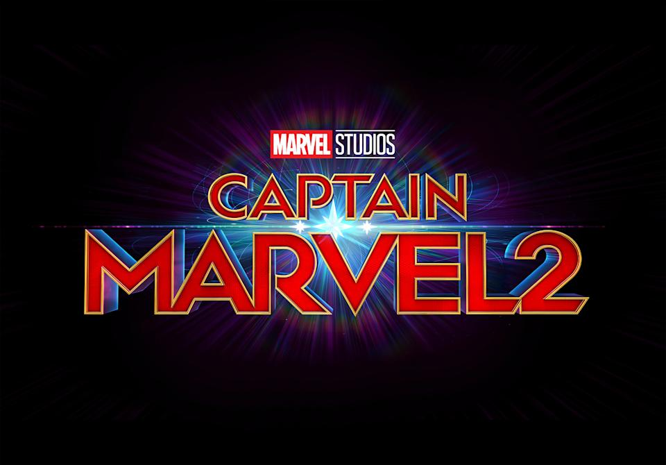 The title treatment for Captain Marvel 2 (Disney)