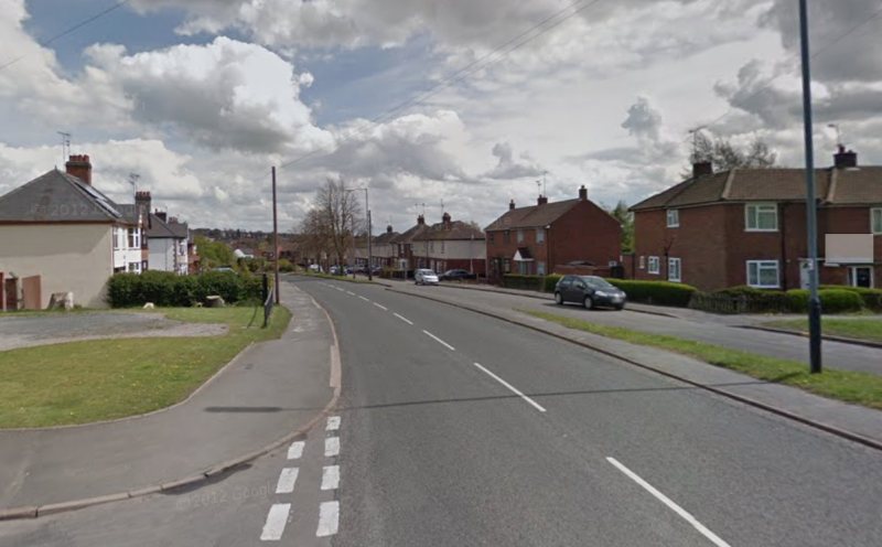The crash happened on Coleshill Road, Ansley Common. (Google)
