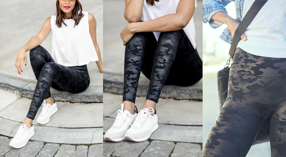 Spanx Faux Leather Camo Leggings. (Photo: Nordstrom)