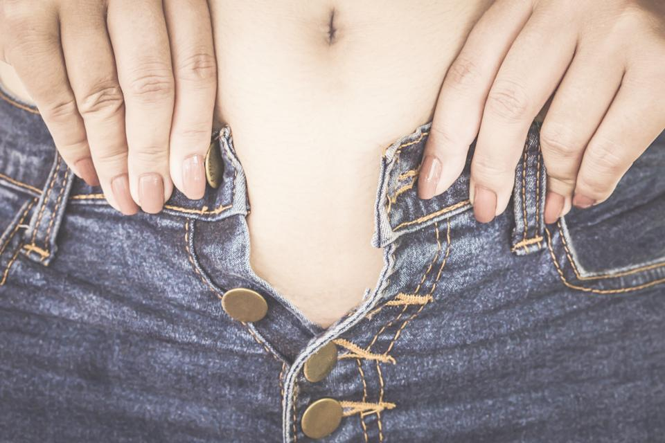 New research has revealed almost half of adults have put on weight during the pandemic. (Getty Images)