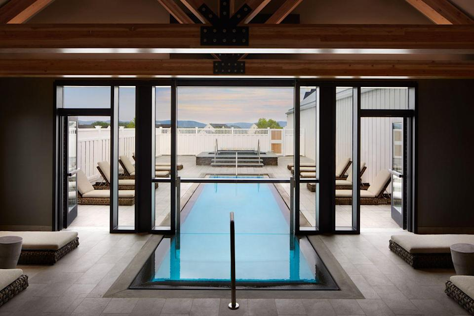 "<p>The latest offering from renowned Miraval Resorts, <a href=""https://www.miravalberkshires.com/"" rel=""nofollow noopener"" target=""_blank"" data-ylk=""slk:Miraval Berkshires"" class=""link rapid-noclick-resp"">Miraval Berkshires</a> is one of the country's hottest destinations for those in need of some R&R in the most luxurious of settings. The resort curates offerings in line with each season to provide a unique healing experience, offering education in sustainable living, cooking and nutrition, fitness, and self-care to impact your well-being for life. Creating a personalized itinerary of spa treatments, adventures, and experiences ensures you'll develop a wellness regimen you can actually maintain. Plus, there are options for day-long retreats, if you're looking for a quick road trip. </p>"