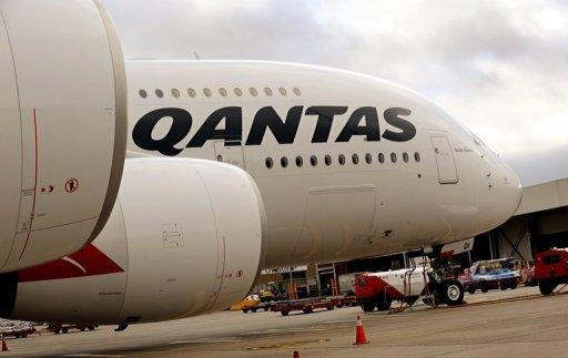 A Qantas A380 Airbus sits on the tarmac at Melbourne's Tullamarine Airport in 2011