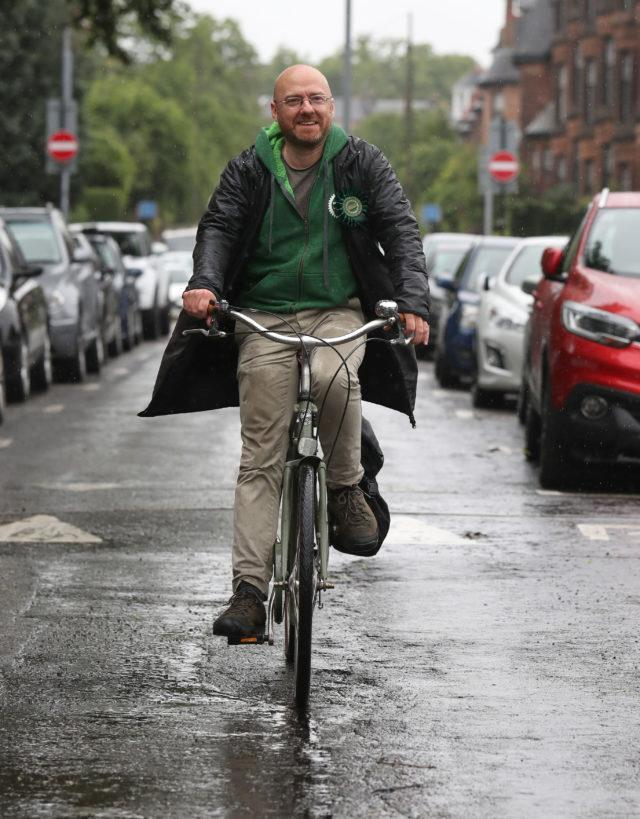 Patrick Harvie is again running for the Glasgow Kelvin constituency seat, where he finished second in 2016 (Andrew Milligan/PA)