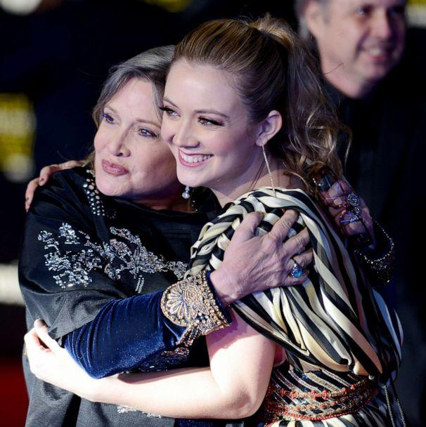PHOTO: Carrie Fisher and her daughter Billie Lourd arrive for the premiere of 'Star Wars: The Force Awakens' on Dec. 14, 2015, in Hollywood, Calif. (Albert L. Ortega/Getty Images, FILE)