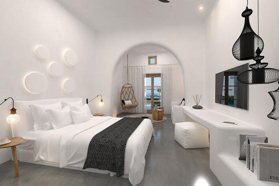 A Deluxe Room with Caldera View at OMMA Santorini (OMMA Santorini)