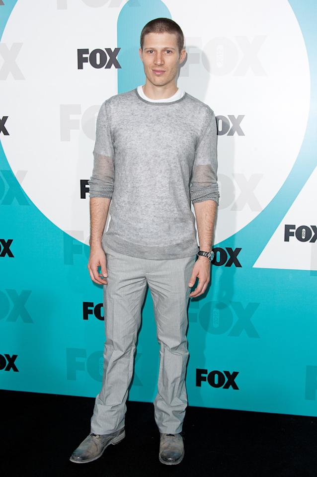 "Zach Gilford (""The Mob Doctor"") attends the Fox 2012 Upfronts Post-Show Party on May 14, 2012 in New York City."