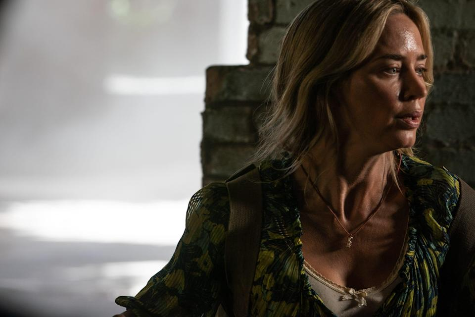"""Evelyn (Emily Blunt) braves the unknown to keep her family safe in a dangerous world in the horror sequel """"A Quiet Place Part II."""""""