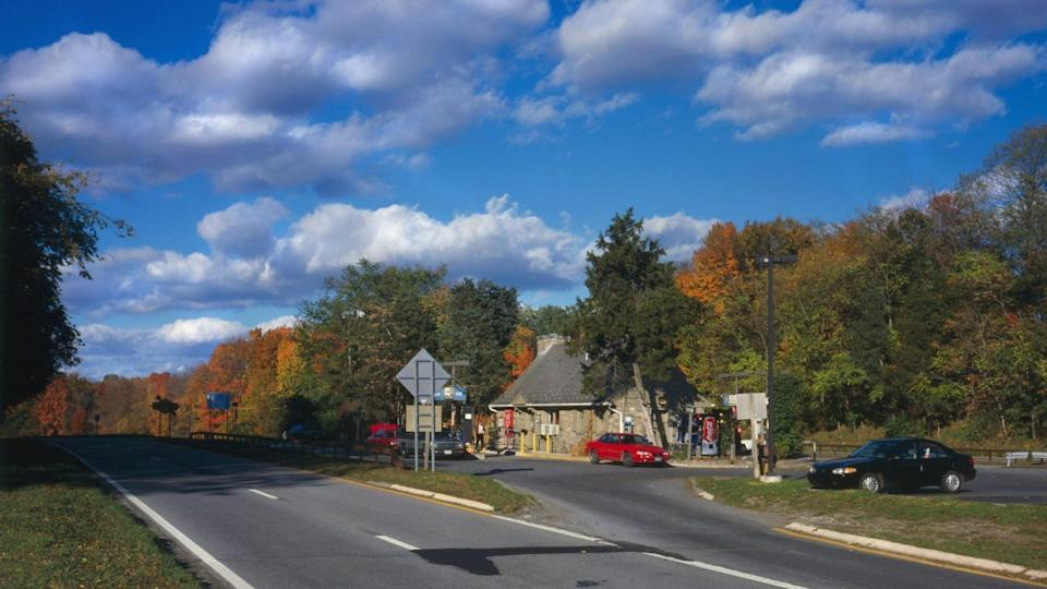 Mandatory Credit: Photo by Everett/Shutterstock (10277003a)Taconic State Parkway, Shenandoah Service Station, the highway represents an important development in the evolution of American transportation planning.