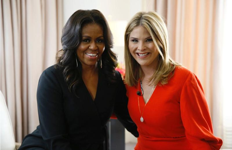 Michelle Obama and Jenna Bush Hager