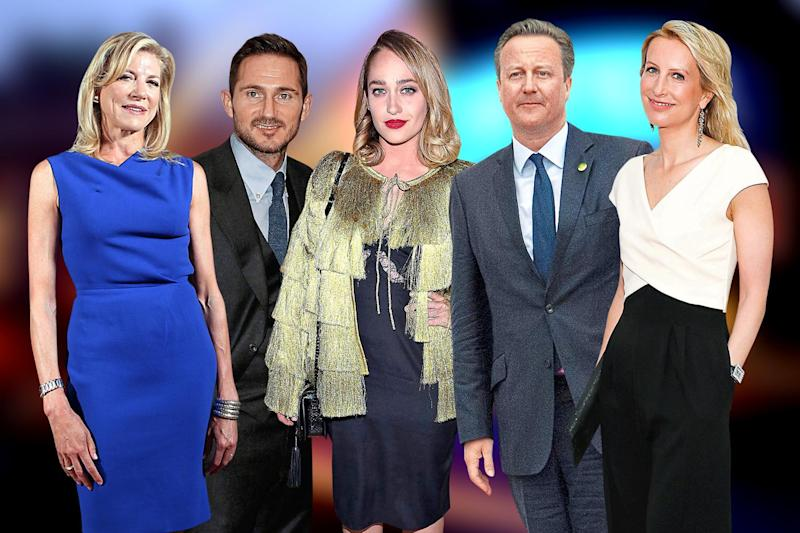 City state of mind: Lady Lynn Forester de Rothschild, Frank Lampard, Jemima Kirke, David Cameron and Vicky Ward