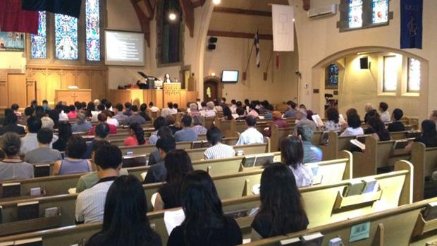 Jun Lin was honoured at a prayer service at at the Montreal Chinese Alliance Church on Saturday.