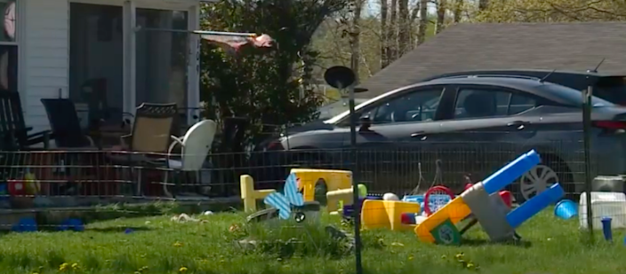 <p>A West Bath couple was wounded Wednesday morning when their 2-year-old shot them with a handgun. Screengrab. </p> (WMTW-TV )
