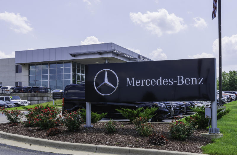 The Mercedes-Benz dealership of Rochester. Mercedes-Benz is a global manufacturer of luxury vehicles and a division of the Daimler AG.