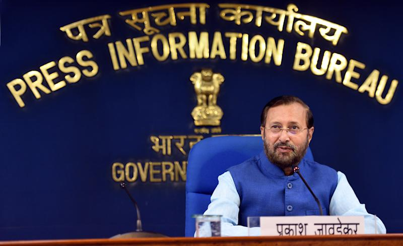 Minister of Environment, Forest and Climate Change and Minister of Information and Broadcasting Prakash Javadekar in a file photo.  (Photo: Hindustan Times via Getty Images)