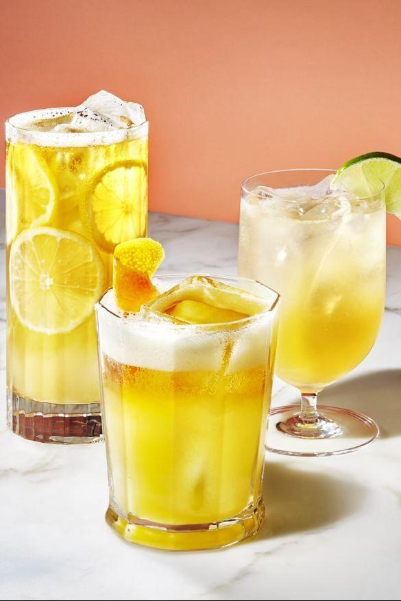 """<p>Obviously, beer is the OG Super Bowl drink. This year, take the staple up a notch with this margarita-style cocktail that blends it with lime juice and orange liqueur. </p><p><em><a href=""""https://www.goodhousekeeping.com/food-recipes/easy/a28408731/beer-cocktails-recipe/"""" rel=""""nofollow noopener"""" target=""""_blank"""" data-ylk=""""slk:Get the recipe for Margarita-Beer Cocktail »"""" class=""""link rapid-noclick-resp"""">Get the recipe for Margarita-Beer Cocktail »</a></em> </p><p><strong>RELATED:</strong> <a href=""""https://www.goodhousekeeping.com/food-recipes/g28669841/best-classic-cocktails/"""" rel=""""nofollow noopener"""" target=""""_blank"""" data-ylk=""""slk:16 Totally Delicious Classic Cocktails to Make at Home"""" class=""""link rapid-noclick-resp"""">16 Totally Delicious Classic Cocktails to Make at Home</a></p>"""