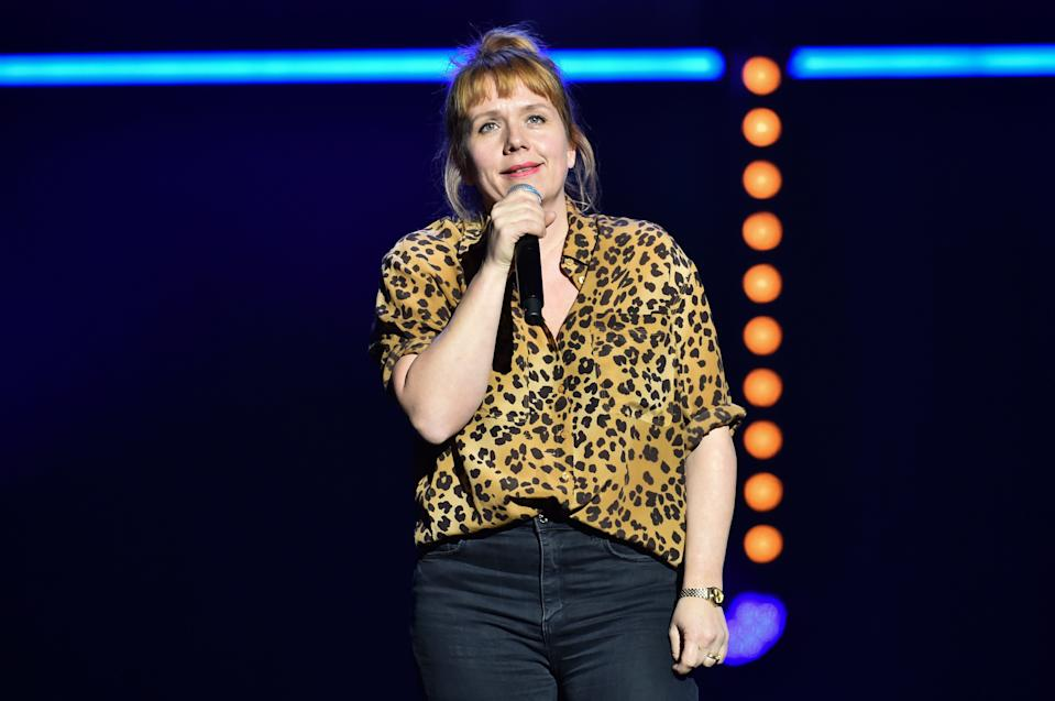 Kerry Godliman performing during the Teenage Cancer Trust comedy night, at the Royal Albert Hall, London. Picture date: Wednesday March 27, 2019. Photo credit should read: Matt Crossick/Empics