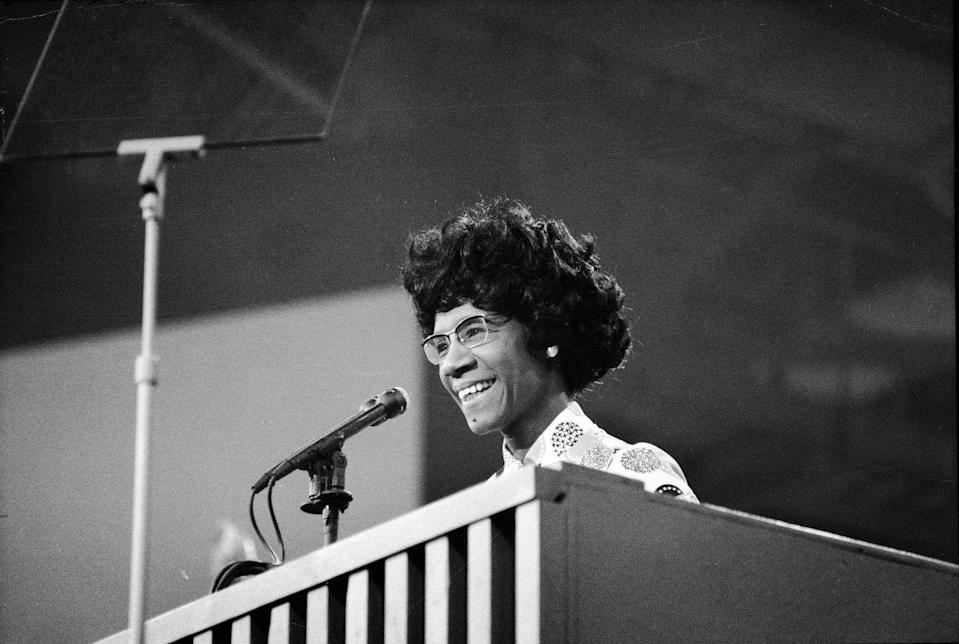 """<p>Chisholm<span class=""""redactor-invisible-space""""> was a pioneer for African-American women holding major roles in the government. </span>Chisholm<span class=""""redactor-invisible-space""""> first served as an educational consultant for New York City's bureau of child welfare and ran for New York State Assembly in 1964. In 1968, Chisholm<span class=""""redactor-invisible-space""""> was elected as the first African-American Congresswoman, and later became one of the <a href=""""http://history.house.gov/People/Listing/C/CHISHOLM,-Shirley-Anita-(C000371)/"""" rel=""""nofollow noopener"""" target=""""_blank"""" data-ylk=""""slk:founding members"""" class=""""link rapid-noclick-resp"""">founding members</a> of the Congressional Black Caucus. Chisholm<span class=""""redactor-invisible-space""""> made history once again in 1972 </span></span></span>when she became the first African-American woman of a major political party to run for the Democratic party nomination.</p>"""