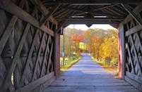 """<p><strong>Where to go:</strong> The Ashland Covered Bridge in New Castle County was built circa 1860, but the lattice woodwork framing the fall foliage looks practically made for Instagram. </p><p><strong>When to go: </strong>Late October</p><p><a class=""""link rapid-noclick-resp"""" href=""""https://go.redirectingat.com?id=74968X1596630&url=https%3A%2F%2Fwww.tripadvisor.com%2FHotels-g28929-Delaware-Hotels.html&sref=https%3A%2F%2Fwww.redbookmag.com%2Flife%2Fg34045856%2Ffall-colors%2F"""" rel=""""nofollow noopener"""" target=""""_blank"""" data-ylk=""""slk:FIND A HOTEL"""">FIND A HOTEL</a></p>"""