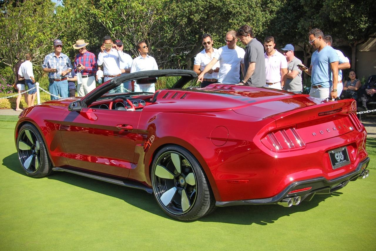 """<p>The Mustang's standard windshield has not been chopped, however, as with most cars calling themselves """"Speedsters."""" Indeed, with the rear seats still in place under that cover and the donor car's power folding top ready for use when one removes it, the Rocket Speedster is technically still more of a regular convertible than a speedster in the traditional sense. But who cares? It's gorgeous and suitably exotic, especially as far as Mustangs are concerned.</p>"""