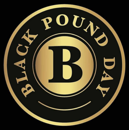 The Black Pound Day logo. (Pic credit: https://blackpoundday.uk/)
