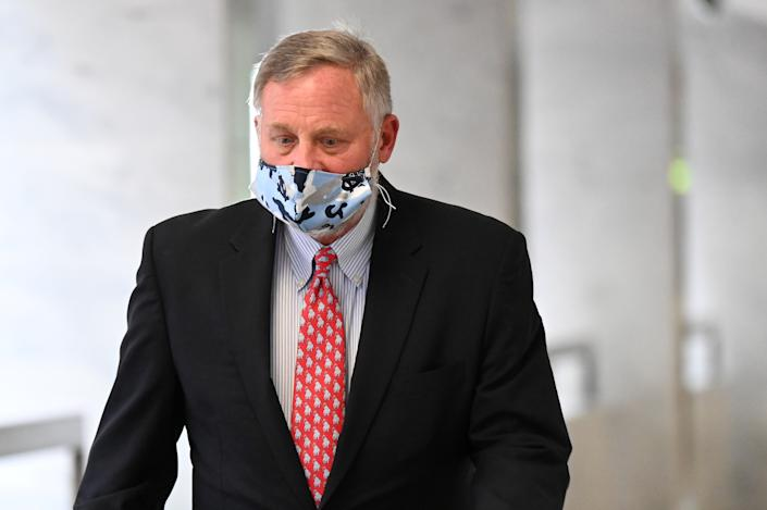 Sen. Richard Burr (R-NC) walks to a republican luncheon on Capitol Hill in Washington, U.S., May 14, 2020. (Erin Scott/Reuters)