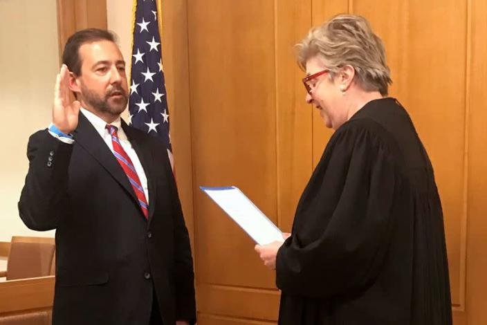 Seth D. DuCharme is sworn in as the Acting United States Attorney for the Eastern District of New York