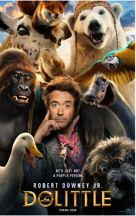 Dolittle poster (Universal)