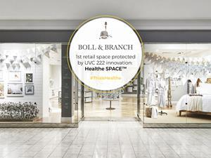 Boll & Branch Becomes First Retail Store to Install Healthe Inc.'s New, State-of-the-Art Far-UVC Sanitizing Technology