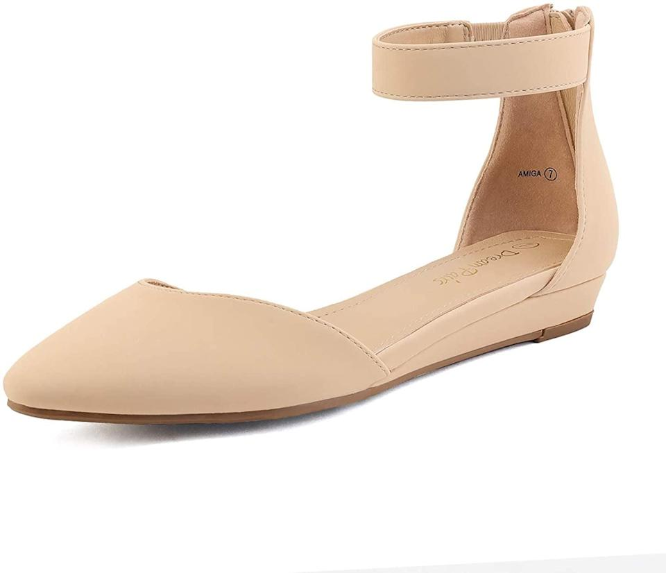 <p>You can take these <span>Dream Paris Amiga Women's Low Wedge Flats Shoes</span> ($33) from day to night.</p>
