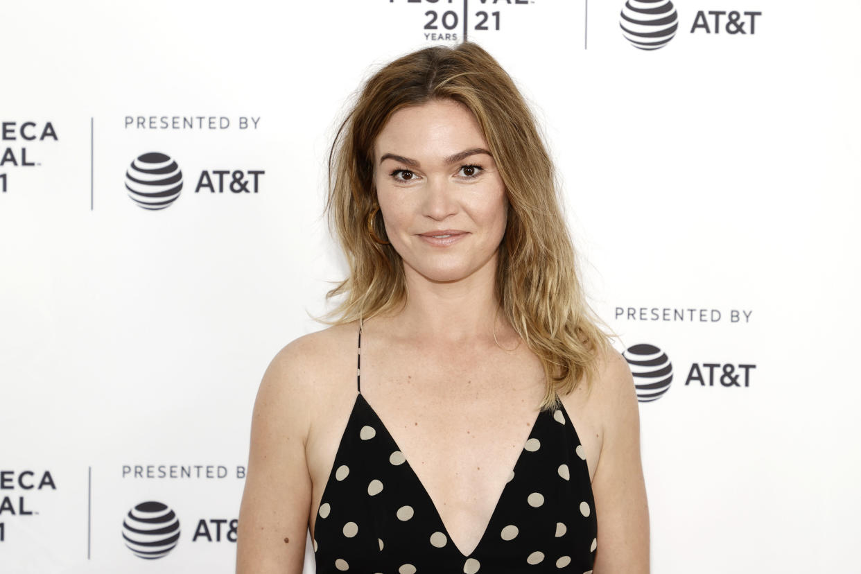 """NEW YORK, NEW YORK - JUNE 20: Julia Stiles attends the """"The God Committee"""