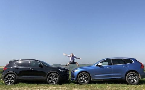 Volvo XC60 (right) and XC40