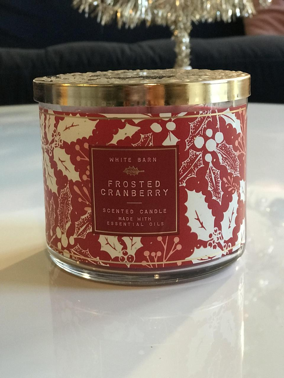 <p><span>Frosted Cranberry 3-Wick Candle</span> ($15, originally $25)</p> <p><strong>What It Smells Like:</strong> Cranberries dipped in sugar.</p>