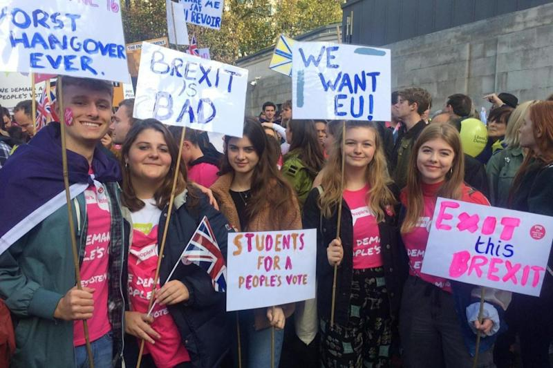Nicky Tarran, 18, Arriana Robertson, 18, Sophie Shanahan, 18 and Alice Beal, 19 travelled to London from Bristol