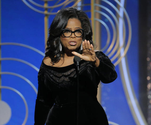 """<p>If we remember anything from the 2018 Golden Globe Awards, it's going to be the speech that the icon gave while accepting the Cecil B. DeMille Award for <a href=""""https://www.goldenglobes.com/cecil-b-demille-award-0"""" rel=""""nofollow noopener"""" target=""""_blank"""" data-ylk=""""slk:""""outstanding contributions to the world of entertainment"""""""" class=""""link rapid-noclick-resp"""">""""outstanding contributions to the world of entertainment""""</a> on Sunday night. With the crowd on its feet, Winfrey looked into the camera and sent a message to those hanging on her every word at home. """"So I want all the girls watching here and now to know that a new day is on the horizon,"""" she said. """"And when that new day finally dawns, it will be because of a lot of magnificent women, many of whom are right here in this room tonight, and some pretty phenomenal men, fighting hard to make sure that they become the leaders who take us to the time when nobody ever has to say 'Me too' again."""" (Photo: Paul Drinkwater/NBCUniversal via Getty Images) </p>"""