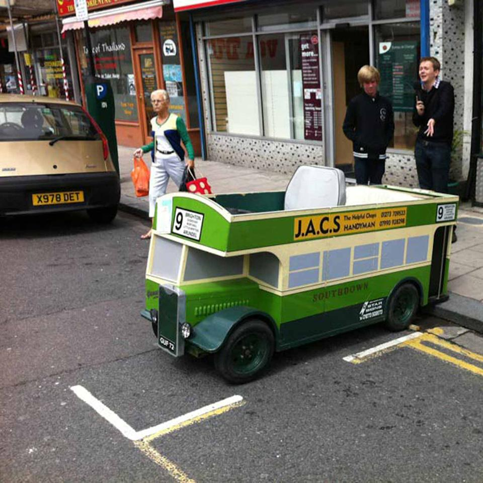 Toy bus given parking ticket
