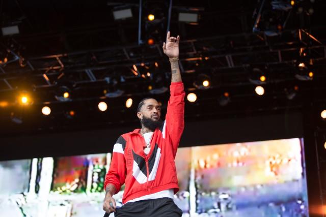 Nipsey Hussle Puts Kanye West On Screen At Broccoli City
