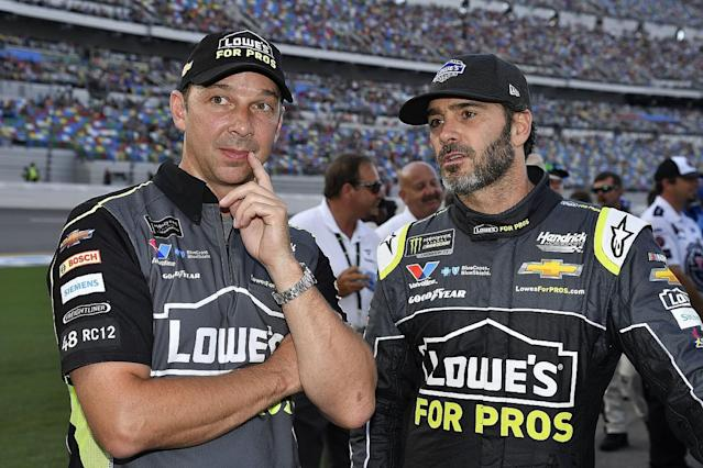 Johnson splits with long-time crew chief Knaus
