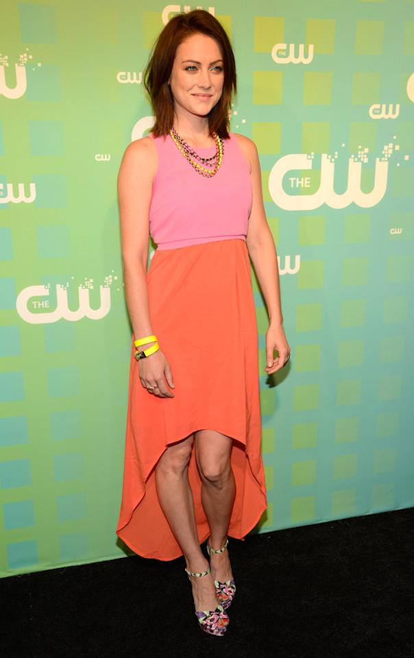 "Jessica Stroup (""90210"") attends The CW's 2012 Upfronts on May 17, 2012 in New York City."