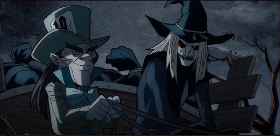 Animated Mad Hatter and Scarecrow in Batman: The Long Halloween, Part Two.
