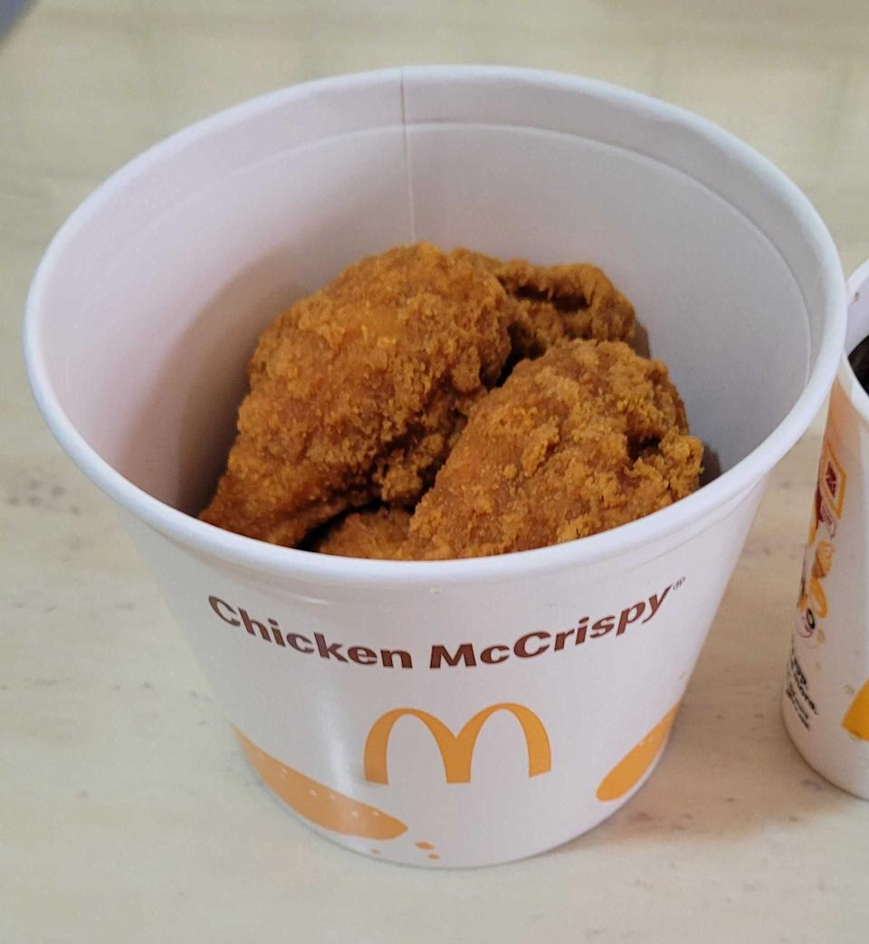 McDonald's Singapore's Chicken McCrispy: fried chicken thighs and drumsticks. Photo: Teng Yong Ping for Yahoo Lifestyle SEA