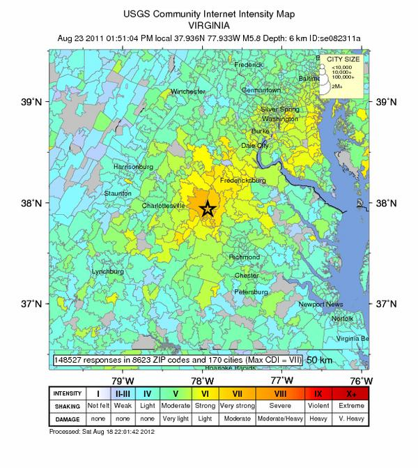 2011 East Coast Earthquake Shook Record-Breaking Area
