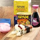 """<p>This Hello Kitty-themed kit helps you make one of Hawaii's most popular snacks: Musubi, which is a slice of grilled spam and rice wrapped in nori. The kit comes with a can of Spam and two molds to make the creation. <b>Cost: $15. <a href=""""http://store.spam.com/HELLO-KITTY-MUSUBI-KIT/productinfo/G6931/#.VmH35eMrKL4"""" rel=""""nofollow noopener"""" target=""""_blank"""" data-ylk=""""slk:Buy the kit"""" class=""""link rapid-noclick-resp"""">Buy the kit</a>. </b><i>(Photo: Spam)</i></p>"""