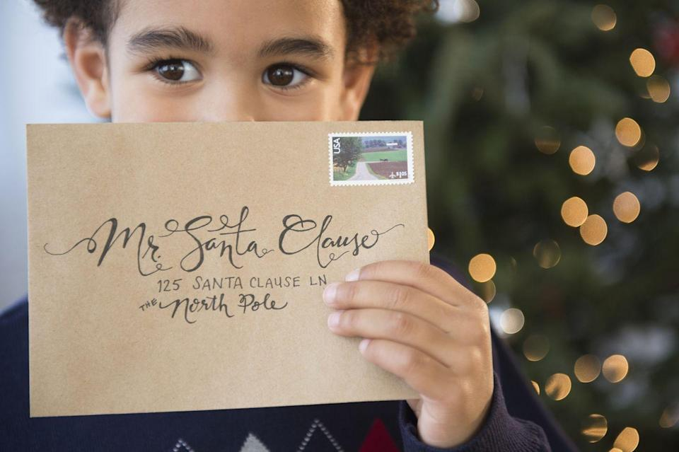 """<p>On Christmas Eve (or any time leading up to the big day!) hand out stationery or plain old paper and ask big and little kids alike to write letters to Santa. To add even more holiday magic to your season, join the United States Postal Office <a href=""""https://www.uspsoperationsanta.com/"""" rel=""""nofollow noopener"""" target=""""_blank"""" data-ylk=""""slk:Operation Santa"""" class=""""link rapid-noclick-resp"""">Operation Santa</a> to respond to letters from hopeful kids on behalf of the big guy himself. </p>"""