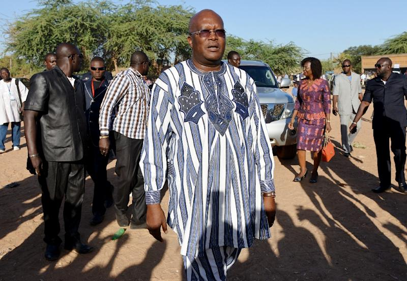 Former Burkina Faso premier Roch Marc Christian Kabore, pictured at a polling station in Ouagadougou on November 29, 2015, is set to win a presidential poll that would make him the nation's first freely elected leader in 30 years (AFP Photo/Issouf Sanogo)