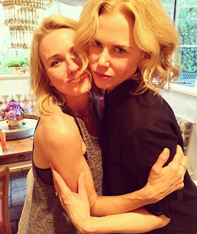 "<p>The actress sent well wishes to her good friend and fellow Aussie, Nicole Kidman, as Kidman turned 50. ""Happy Birthday to <a href=""https://www.instagram.com/p/BVj6QcnB-Rz/?taken-by=naomiwatts&hl=en"" rel=""nofollow noopener"" target=""_blank"" data-ylk=""slk:this beautiful woman"" class=""link rapid-noclick-resp"">this beautiful woman</a>,"" Watts wrote. ""A remarkable human who gives so much love and spirit to all those around her. My friend, I am so happy to have shared incredible experiences with you over the last 3 decades. May there be many more to come."" (Photo: Naomi Watts via Instagram) </p>"