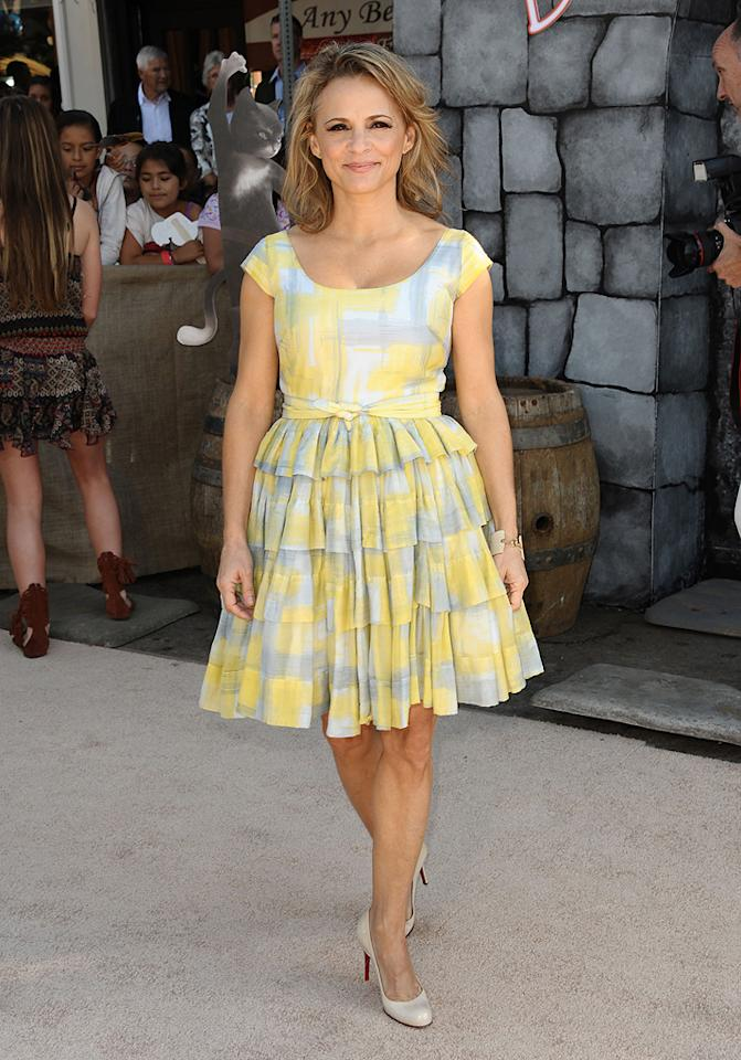 """<a href=""""http://movies.yahoo.com/movie/contributor/1804125081"""">Amy Sedaris</a> at the Los Angeles premiere of <a href=""""http://movies.yahoo.com/movie/1809796671/info"""">Puss in Boots</a> on October 23, 2011."""
