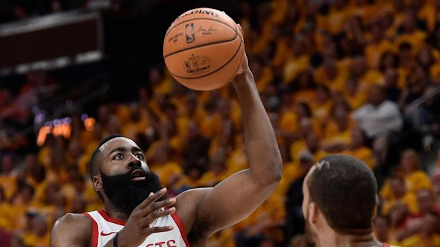James Harden took a while to get going in Game 4, but this dunk reminded everyone why he is likely to be named NBA MVP.