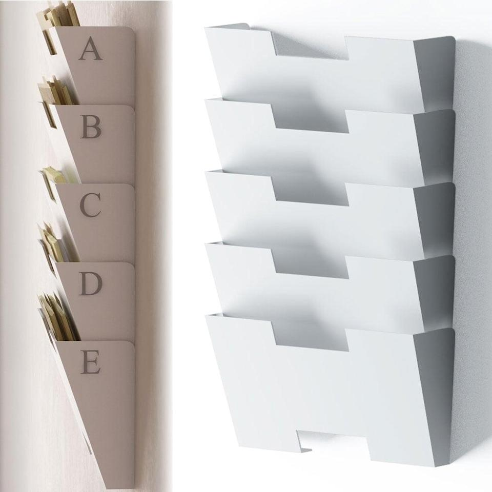<p>If you're on a mission to get your home office in order, try this <span>File Holder Organizer Rack</span> ($37).</p>